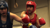 Boxen beim ASV Wuppertal - Sozyar Ali (rechts in rot) vs. Cam Melek. Foto: Manfred Bröcker