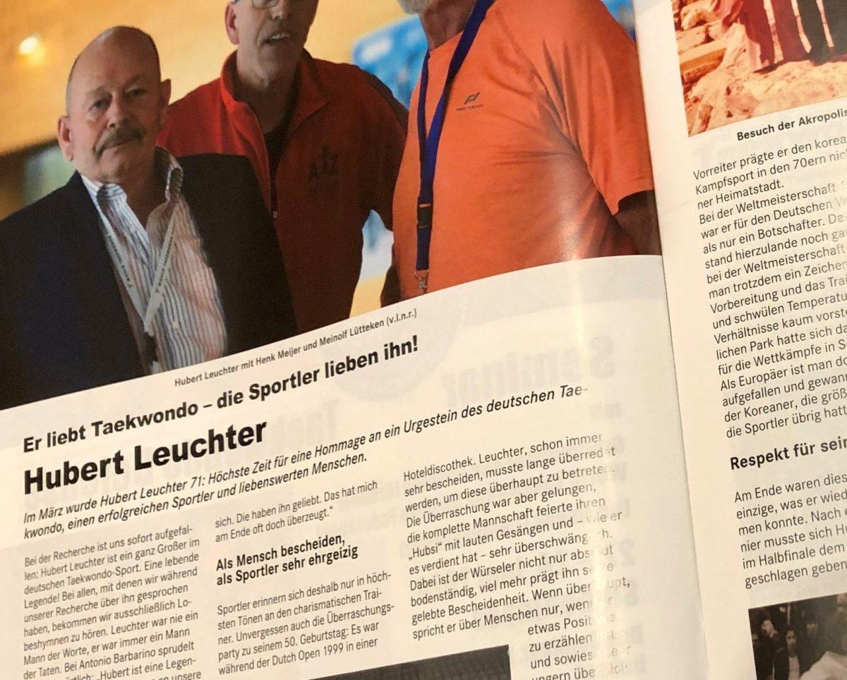 Hubert Leuchter: Er liebt Taekwondo – die Sportler lieben ihn! / TAEKWONDO-AKTUELL 04/2020
