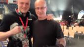 Michael mit seinen ersten Trainer Bernhard Güntner. Foto: Benjamin Güntner